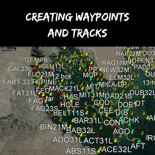 Creating Waypoints and Tracks for Boat Positioning and Navigation
